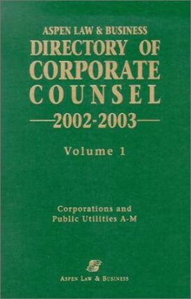 Aspen Law & Business Directory of Corporate Counsel