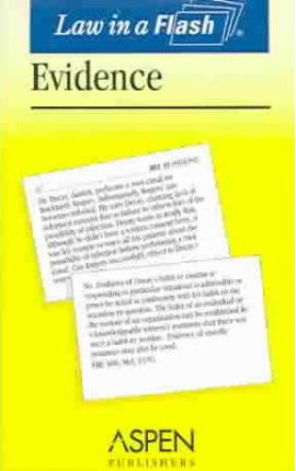 Evidence Law in a Flash Card Set