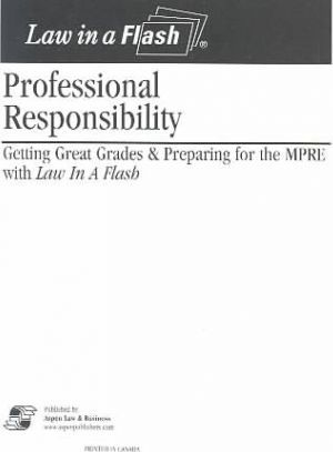 Professional Responsibility Law in a Flash Card Set