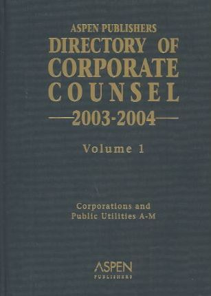 Directory Corporate Counsel 03/04 2v HB