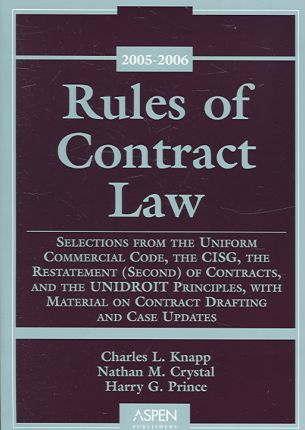 Rules of Contract Law, 2005-2006 Supplement