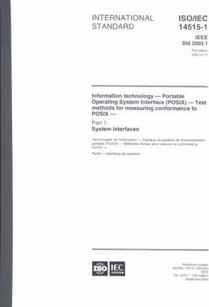 IEEE Standard for Information Technology--Test Methods for Measuring Conformance to Posix