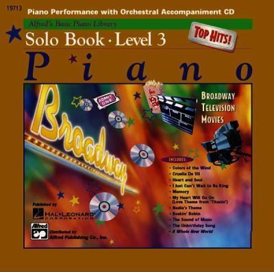 Alfred's Basic Piano Library Top Hits! Solo Book CD, Bk 3