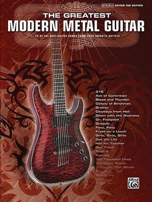 The Greatest Modern Metal Guitar : Alfred Publishing : 9780739049372
