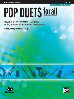 Pop Duets for All: B-Flat Clarinet/Bass Clarinet, Level 1-4