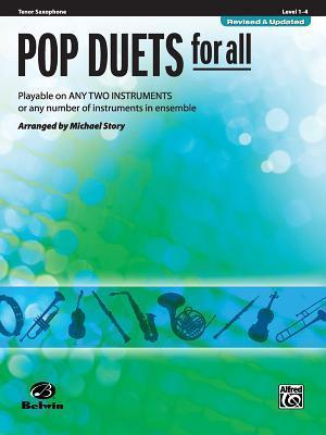 Pop Duets for All: Tenor Saxophone, Level 1-4