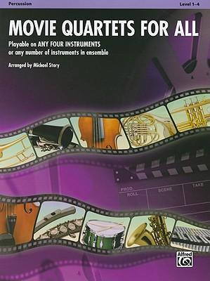 Movie Quartets for All, Percussion, Level 1-4