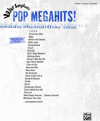Value Songbooks -- Pop Megahits!