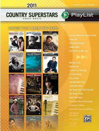 2011 Country Superstars Sheet Music Playlis