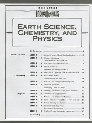 Earth Science, Chemistry, and Physics
