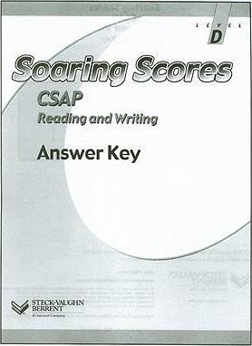 Soaring Scores CSAP Reading and Writing Answer Key, Level D