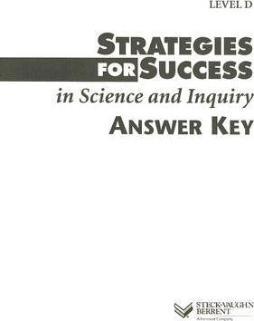Strategies for Success in Science and Inquiry Answer Key