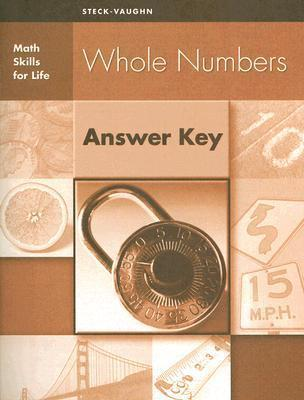 Whole Numbers Answer Key