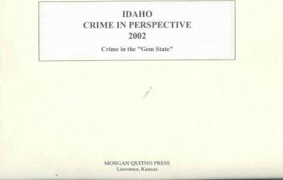 Idaho Crime in Perspective