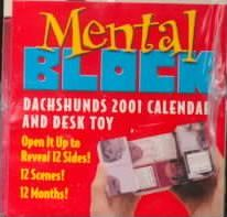 Dachshunds Mental Block 2001 Calendar and Desk Toy