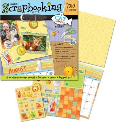 Easy Scrapbooking: Cat Lovers 2010 Wall