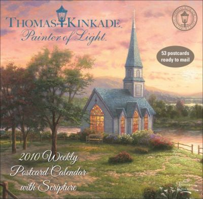 Kinkade Painter of Light with Scripture 2010 Weekly Postcard