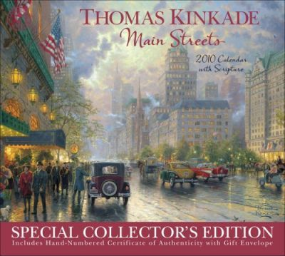 Kinkade Special Collector: Main Streets with Scripture 2010 Super Deluxe
