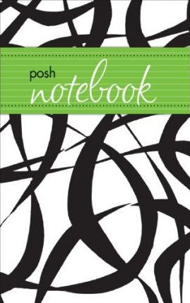 Posh Notebook (Black & White Flocked Abstract)