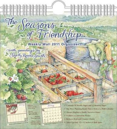 Seasons of Friendship (Reeves Smith) 2011 Wall Planner