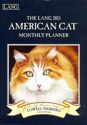 The Lang American Cat Monthly Planner 2015 Calendar
