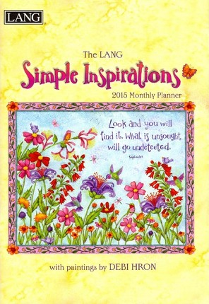 The Lang Simple Inspirations Monthly Planner 2015 Calendar