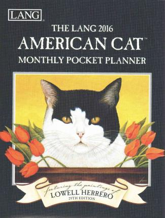 The Lang American Cat 2016 Monthly Pocket Planner