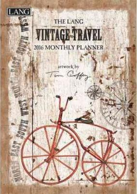The Lang Vintage Travel 2016 Monthly Planner