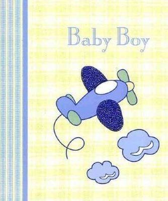 Beaded Baby Record Book - Baby Boy