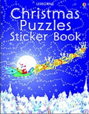 Christmas Puzzles Sticker Book