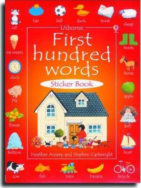 First 100 Words in English Sticker Book