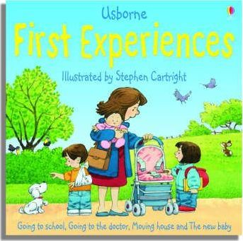 """Usborne First Experiences, Collection: """"Going to School"""", """"Going to the Doctor"""", """"Moving House"""", """"The New Baby"""""""