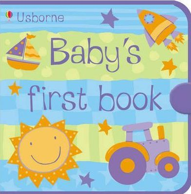 Usborne Baby's First Book Blue Cloth Book