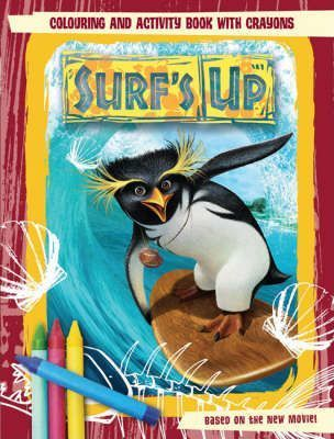 Surf's Up: Colouring and Activity Book with Crayons