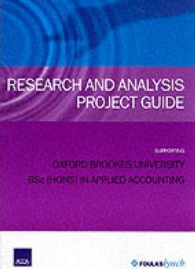 ACCA Oxford Brookes Degree Research + Analysis Project Guide