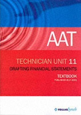 AAT NVQ: Drafing Financial Statements (Accountancy Practice, Industry and Commerce)