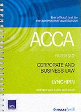 ACCA Official Lynchpin: Paper 2.2