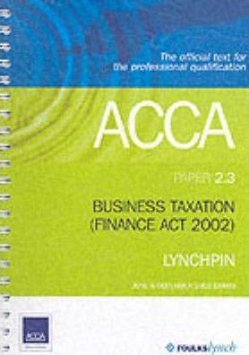 ACCA Official Lynchpin: Paper 2.3