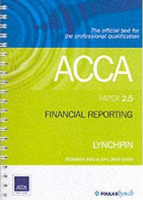 ACCA Official Lynchpin: Paper 2.5