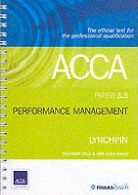 ACCA Official Lynchpin: Paper 3.3