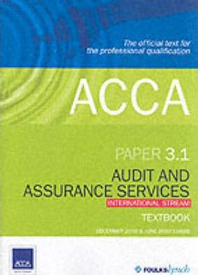 ACCA Official Textbook: Paper 3.1