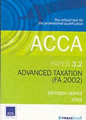 Acca 3.2 Advanced Taxation Revision Kit