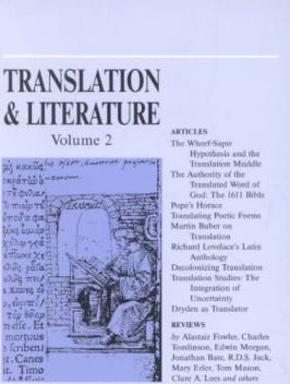 Translation and Literature: v. 2