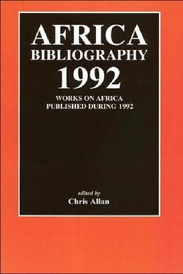 Africa Bibliography 1992 1992