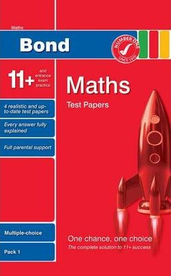Bond 11+ Test Papers Maths Multiple-Choice Pack 1