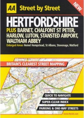 AA Street by Street Hertfordshire