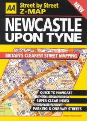 AA Street by Street Z-map Newcastle Upon Tyne