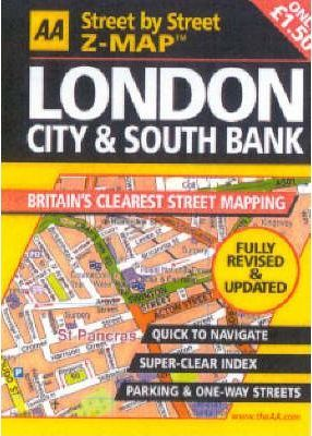 AA Street by Street Z-map London City and South Bank