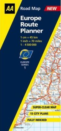 Europe Route Planner Map