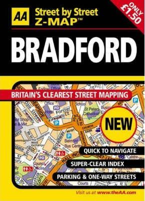 AA Street by Street Z-Map Bradford